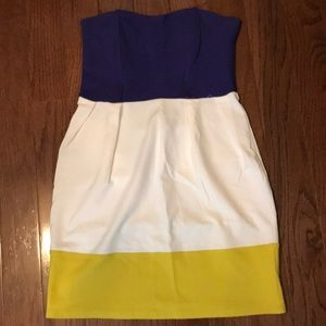 Zara Color Block Mini Dress